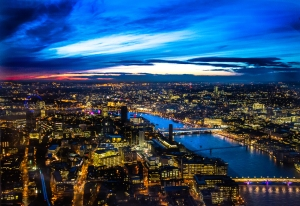 Taken from the top of the Shard - London at night as rarely seen before!