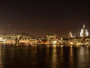 St Paul's and Millenium Bridge at night