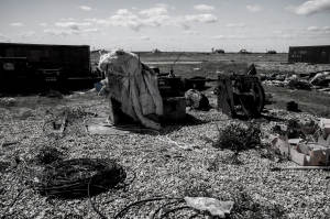 Debris on Dungeness Beach