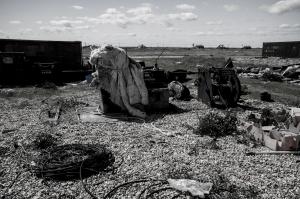 Debris on Dungeness Beach
