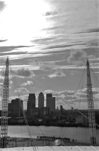 Top of the O2 - views of the Isle of Dogs as you would never thought you would get to see