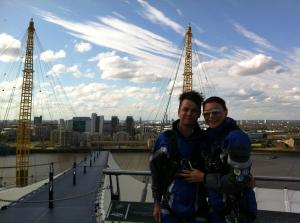 Stace and I at the Top of the O2 -great birthday present!
